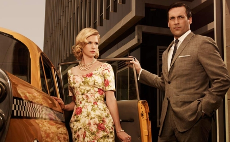 "Style: ""Mad Men"" January Jones (Betty Draper) and Don Draper (Jon Hamm)"